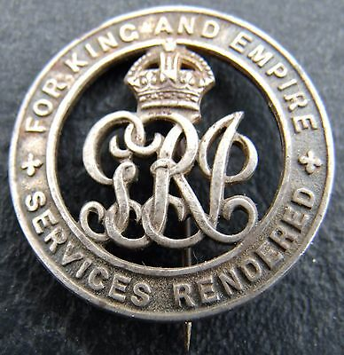 Ww1 Australian Wounded For King And Empire Services Rendered Badge