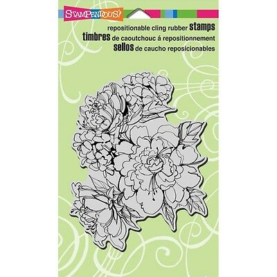 "Stampendous Cling Stamp 7.75""X4.5"" - Sketchy Blooms"