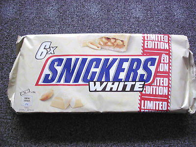 Snickers White limited edition 1 x 294 grams net chocolate fudge caramel peanuts