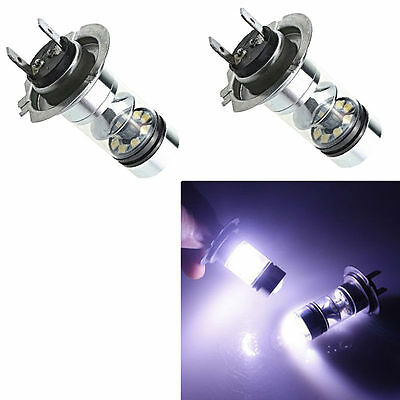 2X H7 100W CREE LED Fog Tail Driving Car Head Light Lamp Bulb White UK STOCK