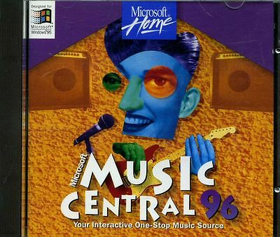 Microsoft Music Central 96 Interactive CD ROM Windows 95 PC Vintage computer