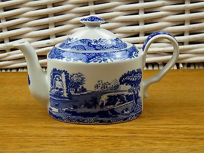 Spode Miniature Tea Pot Blue Italian 3.5""