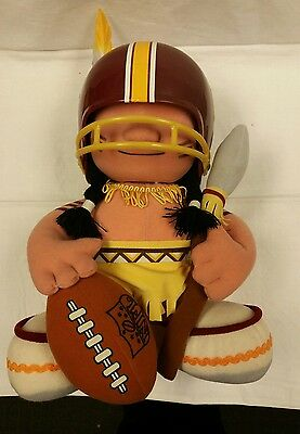 "1983 NFL HUDDLES Red Indians Mascot Officially Licensed Product 12"" softtoy"