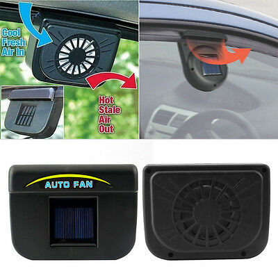 Practical Solar Powered Auto Fan Car Window Windshield Air Vent Cooling System