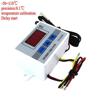 220v 12v 24v Digital LED Temperaturregler 10A Thermostat Steuerschalter