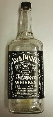 Jack Daniel's Old No.7 Bottiglia Vuota Empty Bottle 3 Litri Litres Vintage