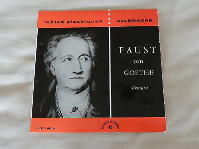 """Faust extracts. Textes Classiques. Read in German. LDY 6016 with booklet - 7"""" EP"""