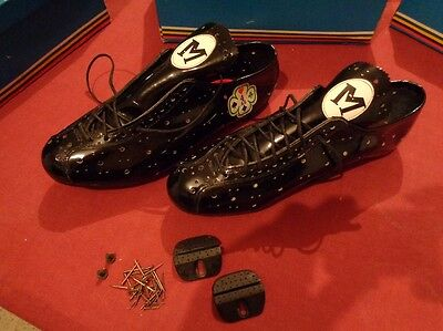 Chaussures cycliste vintage marque BIANCHI taille 44
