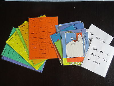 2 X Teaching Resource. Laminated Contractions & Book Game.