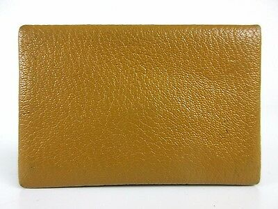Authentic HERMES Calvi Card Case □I Leather Brown Made in France 35647