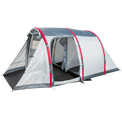 4 Man Inflatable Family Tunnel Tent Four Person Camping Air Beam PU 3000mm HH