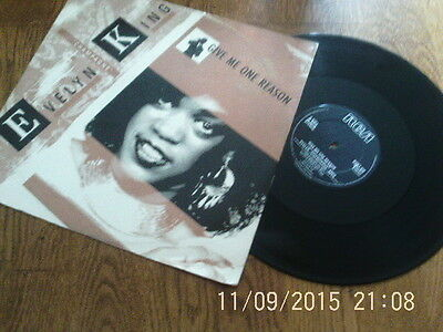 "Evelyn King - Give Me One Reason   12"" vinyl 1985"