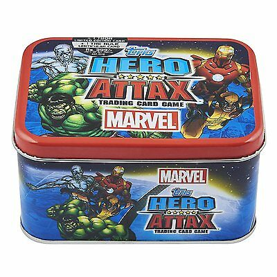 Topps Marvel Universe Hero Attax Trading Card Game Collector Tin 2 Special Cards