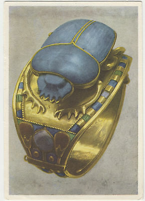 Postcard Tutankhamun'S Treasures #19 - Gold Bracelet With Scarab. Unposted