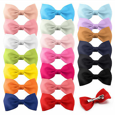 20pcs Handmade Grosgrain Ribbon Boutique Bow hair Alligator Clip Pin Baby/Girl