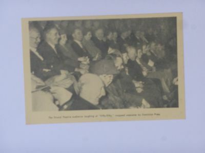 """Handbill Card  1932  Strand  Theatre   """"fifty-Fifty""""  With Harry Green"""