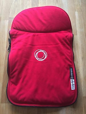 Bugaboo Brand New Carrycot Apron Red Fleece Tailored Fabric