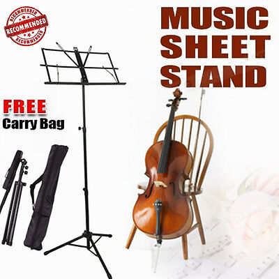Professional Stage Music Sheet Stand Adjustable Folding Light Weight Large AU