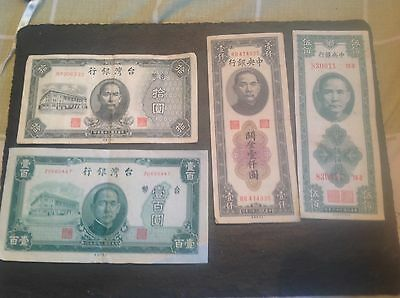 Collection of China banknotes