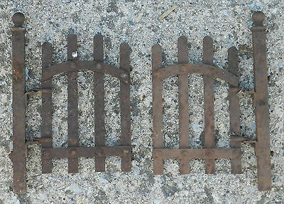 9 ft+ 2 gates Antique Miniature Victorian Wrought Iron Picket fence 8 Cast Posts