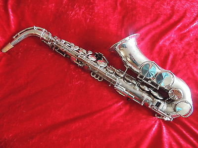 King Zephyr Silver Alto Saxophone Beautiful Rare 1937