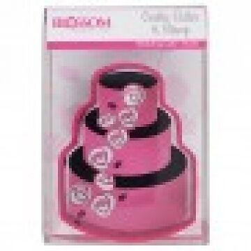 Tiered Cake Cookie Cutter & Stamp Set