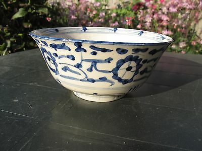 Antique 18th Chinese Porcelain Bowl Blue&White