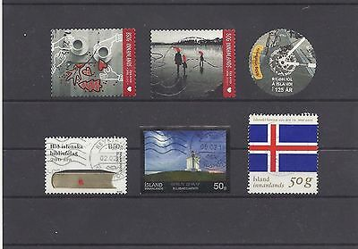 ICELAND ISLANDE IJSLAND ISLAND recent 2015 mix stamps all different used