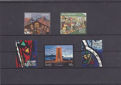 ICELAND ISLANDE IJSLAND ISLAND recent 2013 mix stamps all different used