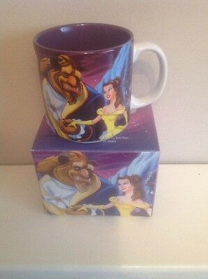 Boxed Disney Store exclusive Classics Mug  2002 Beauty And The Beast Coffee Cup