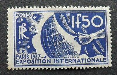 France 1936, World Exhibition, mounted mint
