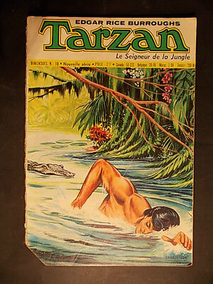 TARZAN n°10 Sagédition 1973 Burroughs bel état jungle aventure bande dessinée !