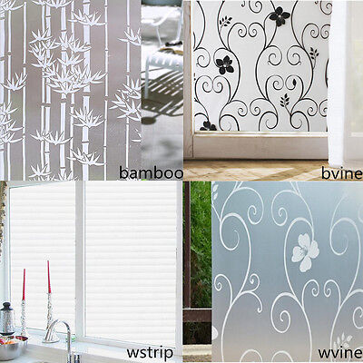 45 x 200cm 3D Translucent PVC Window Glass Film Sticker Graceful Home Decor