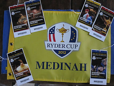 Ryder Cup Flag and 6 Tickets Tuesday-Sunday. The Miracle in Medinah 2012