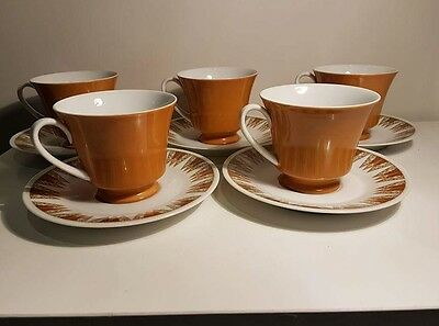 Noritake RC Una 434. 5 x tea cup and saucer duo's. Great condition