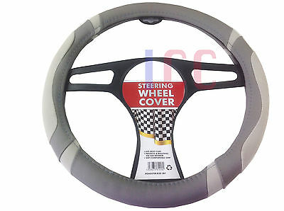 GREY car small van EG Vito Lace Steering Wheel Cover Glove leather look QUALITY