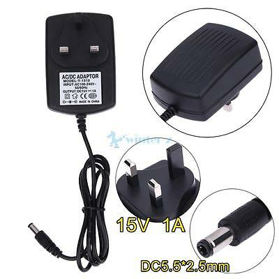 50/60Hz DC15V 1A Adapter AC 100V-240V to DC 15V Converter Power Supply Adapter