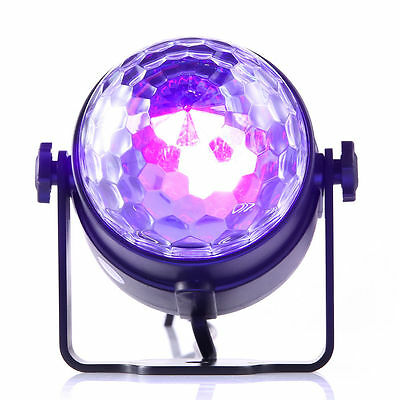 3W UV Magic Rotating Ball Effect LED Stage Light KTV Party DISCO DJ  With Remote