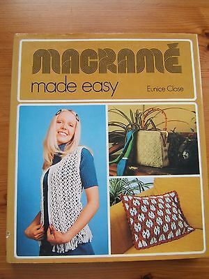 """""""macrame Made Easy""""   Pattern Book   88 Page  H B."""
