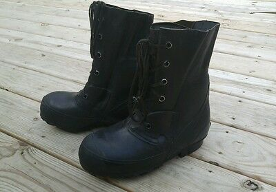 VTG Mens Hood QMC Sz 7R Rubber Black Combat Boots Military USA Hunting Insulated