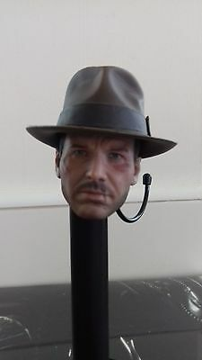 1/6 scale sideshow hot toys Indiana Jones Temple of Doom head with hat