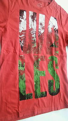 Mens Red Wales Welsh T Shirt size S