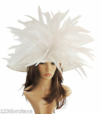 Lemon Yellow Large Ascot Hat for Weddings Ascot Derby in many colors HM3