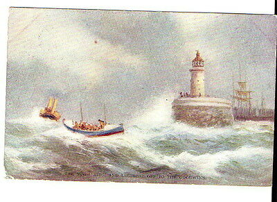 Goodwin Lifeboat Tug AID Light house Faulkner Postcard 549D
