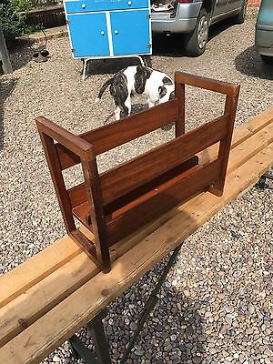 Retro Teak Magazine Rack