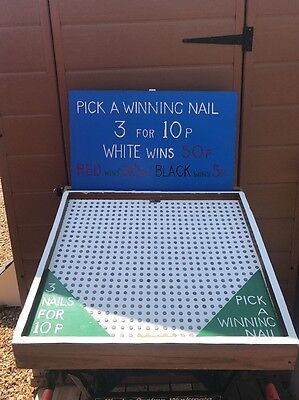 Old Pick A Nail Game - Fundraiser Fairground Carnival Village School Fete Party