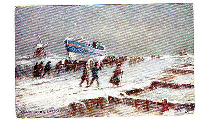 Launch of the Lifeboat PostcardTuck 9029 Ye Mariners of England Newcross