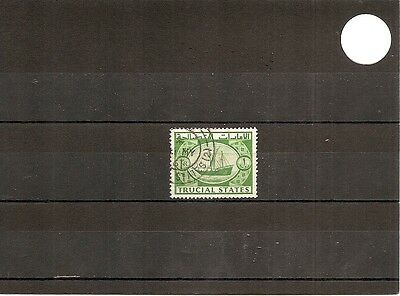 Trucial States 1961 SG8 1v of set NH/Used 1r Green-Dhow