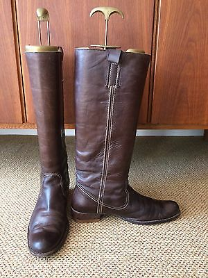 Russell and Bromley brown leather knee-high riding boots, UK39