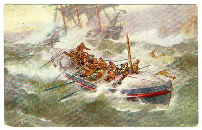 Lifeboat Postcard Tuck Bernard Gribble unposted
